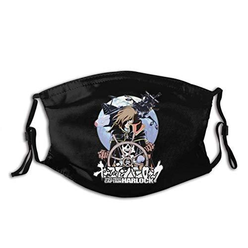 Harlock Space Pirate Außengesichtsschutz 5-lagiges Aktivkohle-Kopftuch für Erwachsene für Männer und Frauen