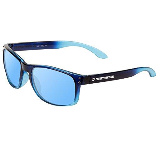 Gafas Sol Sunglasses UNISEX NORTHWEEK SERIE BOLD GRADIANT AZUL - lente AZUL POLARIZADA