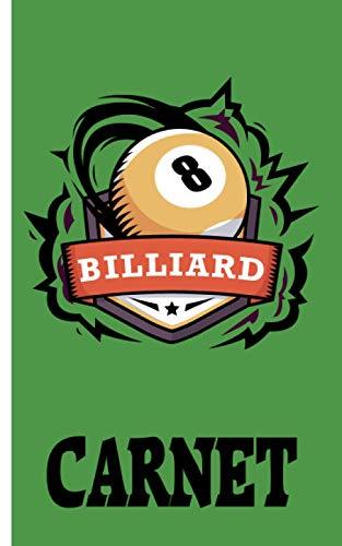 Carnet - Billiard: Planificateur | Journal | Bloc-notes | Copybook | cadeau parfait pour les joueurs de billard | cahier à carreaux avec motif billard | Taille 5