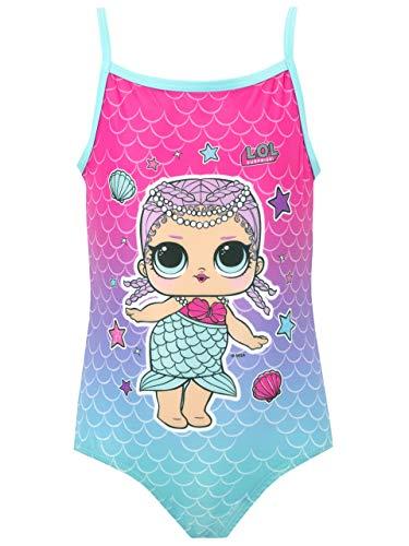 LOL SURPRISE Costume da Bagno per Ragazze Merbaby Blu 4-5 Anni
