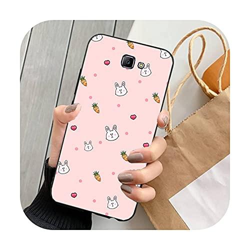 Funda linda del teléfono del patrón de la zanahoria de la historieta para Samsung Galaxy S10 Plus S10E S6 S7 S8 S9 Plus S10lite-zyr11372-For S8