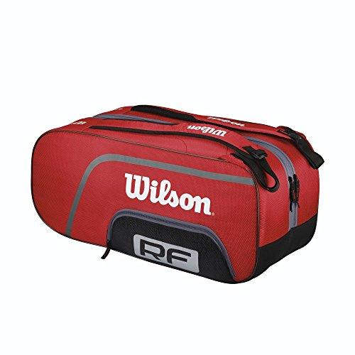 Wilson Schlägertasche Federer Team 12er Racketbag, Rot, 70 x 34 x 35 cm, 70 Liter, WRZ833512