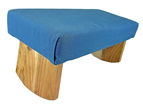 Meditation Bench- Acacia Wood (Blue)