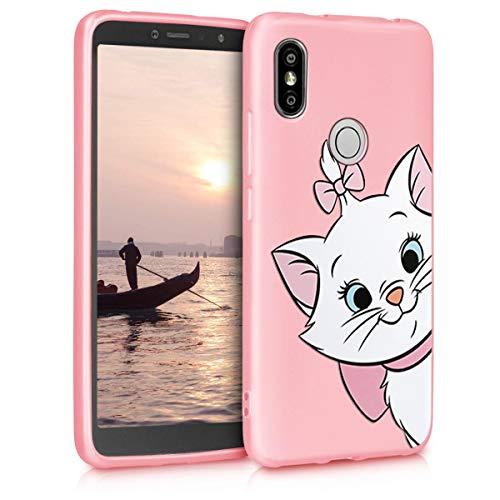 Pnakqil Funda XiaomiRedmiS2 Rosa Ultrafina y Ligero Flexible Soft Carcasa Gel TPU Suave Silicona Piel Case Anti-Golpes Bumper Protectora Cover para Teléfono XiaomiRedmiS2, Gato 01