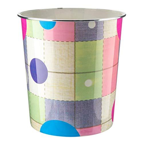 Home Plus 7.7 liter kwaliteit bloemen ontwerp lichtgewicht afval papier mand Bin