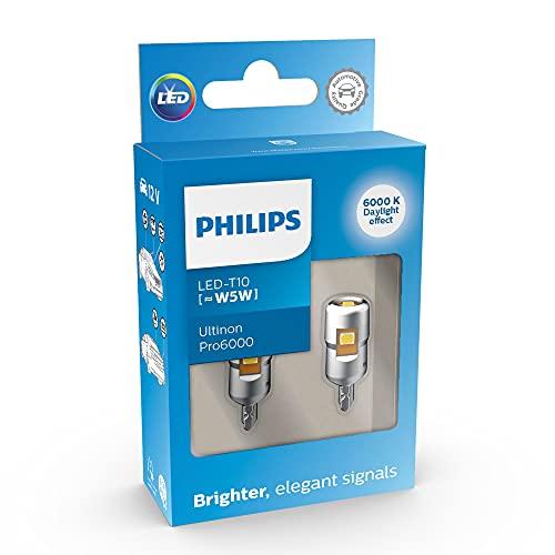 Philips Ultinon Pro6000 LED T10 foco de señalización para automóvil (W5W), 6.000K cool white