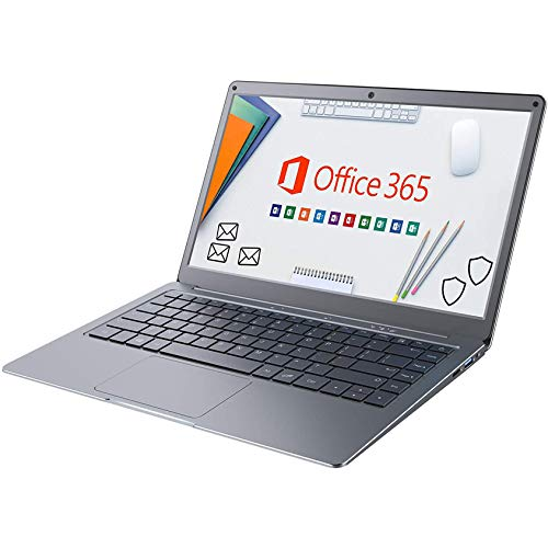 Jumper Notebook Portatile Microsoft Office 365, Portatili FHD da 13,3 pollice (4GB, 64GB, Memoria Espandibile SSD da 1 TB e TF da 256 GB, WiFi Dual Band, Windows 10, Bluetooth 4.2, Intel Celeron CPU)