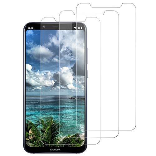 DOSNTO [3 Stück Panzerglasfolie für Nokia 8.1, 9H Festigkeit Panzerglas Bildschirmschutzfolie, Anti-Kratzen, Anti-Öl, Anti-Bläschen, Hülle Fre&llich Schutzfolie für Nokia 8.1