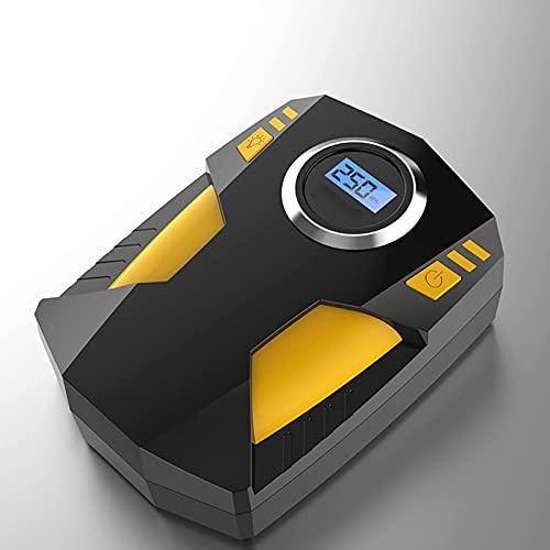 Wdszb Mesa de inspección de neumáticos de automóvil Medidor de presión de neumáticos de automóvil de Alta precisión portátil Monitorización rápida Pantalla Digital Modelo de Bomba de Aire del Auto