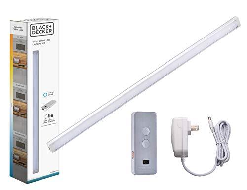BLACK+DECKER Works with Alexa Smart Under Cabinet Lighting, Adjustable LEDs, 18