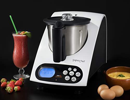 Robot de Cocina VA1500 Cook&MIx, 1100w+500w, jarra de 2 litros de capacidad real, 10 velocidades, de 40º a 110º