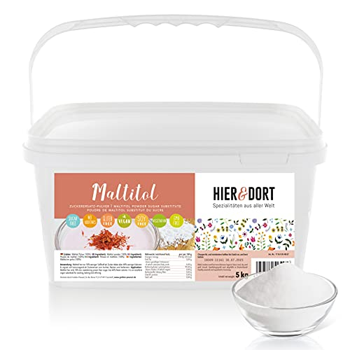 HIER&DORT - Polvo de maltita (5 kg, sin azúcar, vegano, bajo en calorías)
