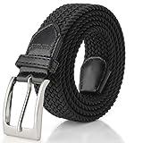 Elastic Braided Belt, Fairwin Enduring Stretch Woven Belt for Men/Women/Junior (XL: waist 41''-44'', Black)