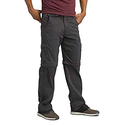 "prAna - Men's Stretch Zion Convertible Water-Repellent Pants for Hiking and Everyday Wear, 32"" Inseam, Charcoal, 31"