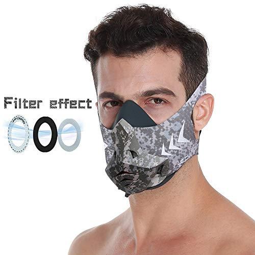 FDBRO Máscara de Entrenamiento 2.0 Workout Mask Fitness, Running,Resistencia, Cardio, Máscara de Ejercicio para Entrenamiento y Acondicionamiento de Gran Altitud (D)