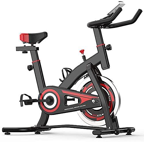 Bicicleta de ejercicio para interior y ciclismo con pantalla LCD/soporte para teléfono móvil, manillar ajustable y asiento – 350 libras asequibilidad