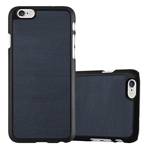 Preisvergleich Produktbild Cadorabo Hülle für Apple iPhone 6 / iPhone 6S - Hülle in Woody BLAU Hardcase Handyhülle in Vintage Holz Optik - Schutzhülle Bumper Back Case Cover