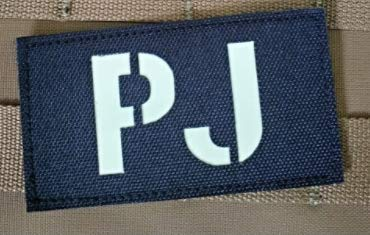 Glowing in Dark Pararescue Jumper PJ Military Patch Fabric Embroidered Badges Patch Tactical Stickers for Clothes with Hook & Loop (color2)