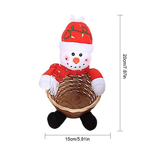 Xploit Candy Basket Kinder Weihnachtsdekoration Große Desktop-Dekoration Candy Basket