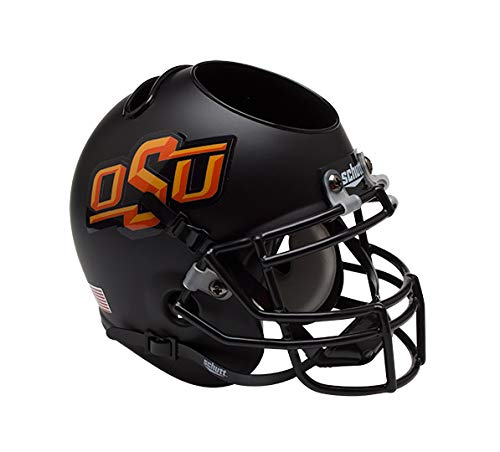 NCAA Oklahoma State Cowboys Helmet Desk Caddy, Matte Black