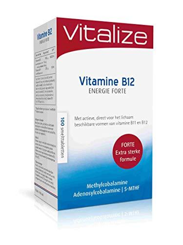 Vitalize Vitamine B12 Foliumzuur Energie Forte 100 smelttabletten