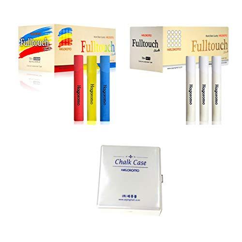 Hagoromo Fulltouch 3-Color Mix Chalk 72pcs + Hagoromo Fulltouch Chalk 72pcs (White) + Chalk Case