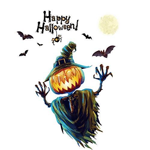 StaHomily Halloween Wandaufkleber Kürbislampe abnehmbare Wandbild Aufkleber soziale Wohnzimmer Fenster Hintergrund Party Dekoration