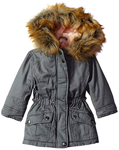 Urban Republic Baby Girls Cotton Twill Jacket, Light Grey, 12M
