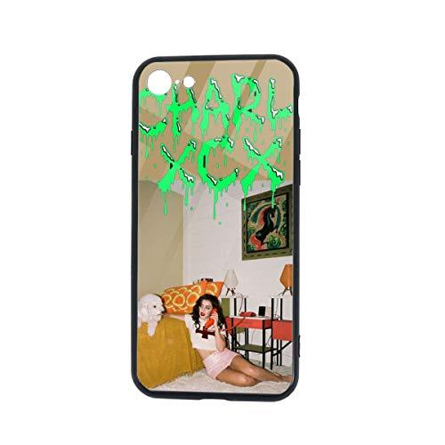 TVXQXIAH Charli XCX Phone Case for IPHONE7/8 TPU Charli XCX Glass Phone Case Skin Protective Printed Phone Full Protection Cover