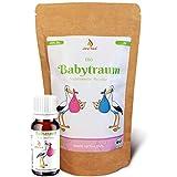 JoviTea Babytraum BIO Tee + Homöopathische Globuli – Traditionelle Rezeptur - spezielle Kräutermischung – aus kontrolliert biologischem Anbau. 100% natürlich -10g Globuli 75g Tee
