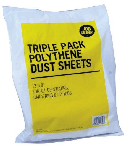 Trippelpack polyeten dammlakan 30 x 9 tum – för alla dekorationer, trädgårdsskötsel och gör-det-själv-jobb
