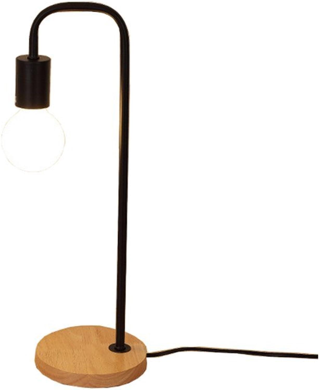 El ultimo 2018 TDGHH GUIHONG Home Diseo Personalidad Personalidad Personalidad de la Moda Lámpara de Escritorio nórdica Creativa Dormitorio de Arte Woody Lámpara de Madera Simple Creatividad nórdica (Color   negro)  tienda de bajo costo