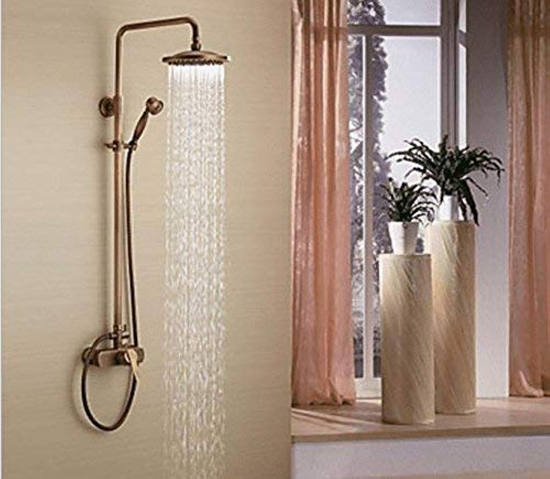 GFF Dusche Kupfer Dusche Dusche Set Wasserhahn Antik heien und kalten Wasserhahn Hand Badewanne Dusche Mischbatterie