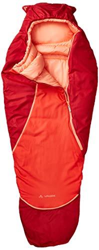 VAUDE Kinder Schlafsack Alpli Adjust 400 SYN, längenverstellbarer Kinderschlafsack, geeignet für Größen von 105-135cm, dark indian red, one Size, 129616520010