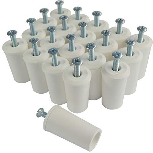 Rollladenstopper Anschlagstopper Rolladen, Weiß offen, 20 Stück (10 Paar)