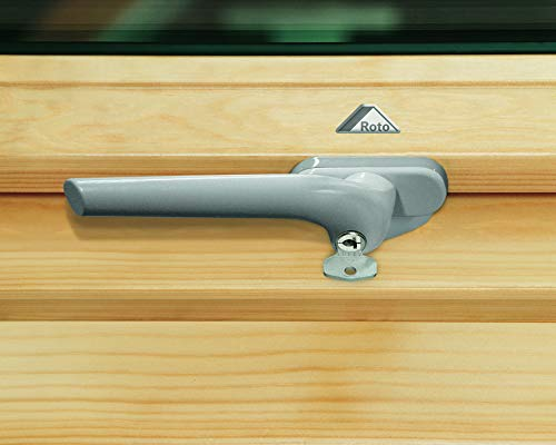 Roto ZUB GRF ASB 3/4/7 R3/4/7 H/K 9006 G2 Fenstergriff, silber, 15x10x6
