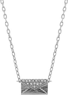 """Lonna & Lilly Collar Dorado para Mujer, 18"""" con Cristales y Colgante en Forma de Sobre, Gold Collection"""