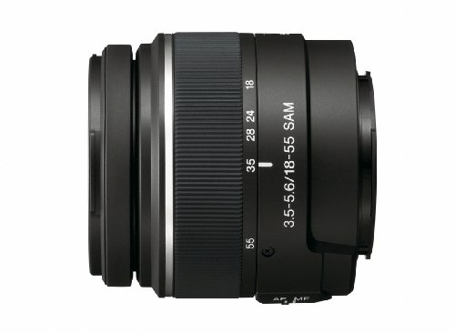 Sony 18-55mm f/3.5-5.6 SAM DT Standard Zoom Lens for Sony Alpha Digital SLR Cameras (Discontinued by Manufacturer)