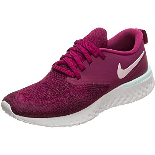 Nike Womens Odyssey React 2 Flyknit Fitness Running Shoes Purple 8 Medium (B,M)