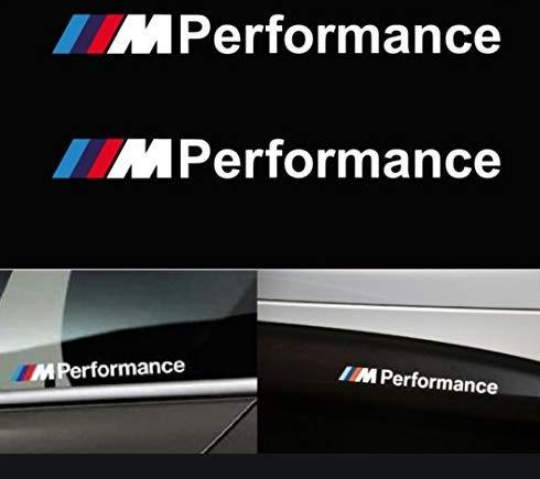 mundocoche 2 Aufkleber 22 X 2 cm M Performance Kleber M Sport, Weiß.