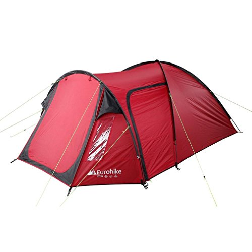 Eurohike Avon Deluxe 3 Person Tent, Red, One Size