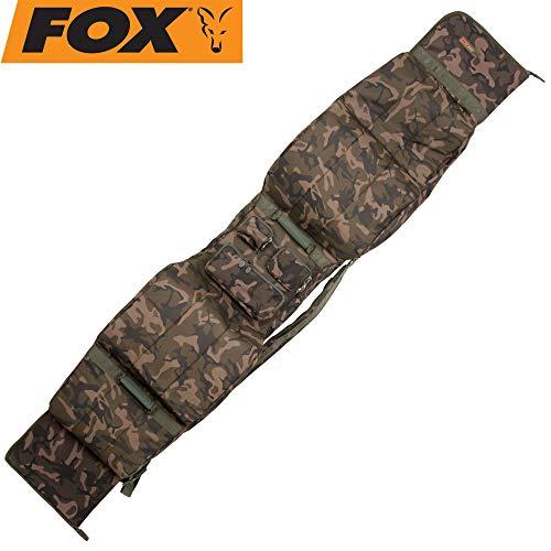 Fox Camolite 13ft 3 + 3 Rod Case 214x37x21cm - Rutenfutteral für Angelrute, Rutentasche für Karpfenruten, Angeltasche für Ruten