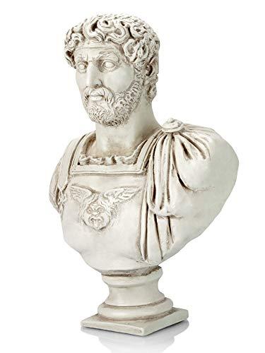 Forum Traiani Hadrian römische Kaiser Büste helle Patina