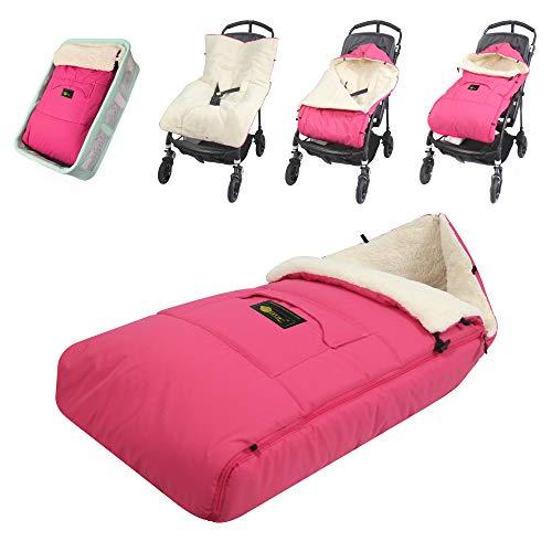 ZIIIW Baby Stroller Sleeping Bag Universal Bunting Bag Moistureproof Warm Footmuff Anti-Slip Baby Swaddle Wrap for 6-36M (Rosa)