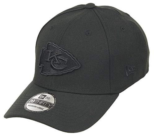 New Era Kansas City Chiefs 39thirty Stretch Cap - NFL Bob Edition - Black - M - L