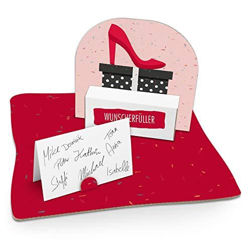 itenga High Heel Geldgeschenk Gastgeschenk Verpackung Einkaufen Gutschein mit Bodenplatte, Geschenkkarte und Stickerbogen