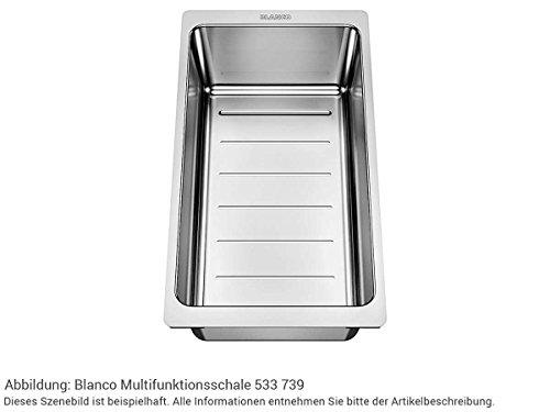 Blanco 233 739 Multifunktionsschale Edelstahl Resteschale Restebecken-Einsatz Zubehör Küchen-Spüle