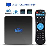 Home IPTV Box, Android TV Receiver, 1600+ 4K HD International Live Channels from India, Brasil, America, Europe, Asia, Including Sports Movies News Adult Channels, 2020 Newest Upgraded Version