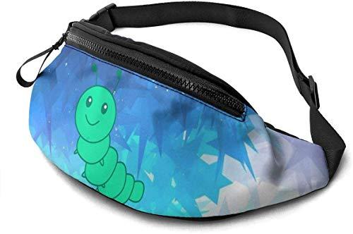 Green Caterpillar Fashion Casual Waist Bag Fanny Pack Travel Bum Bags Running Pocket for Men Women