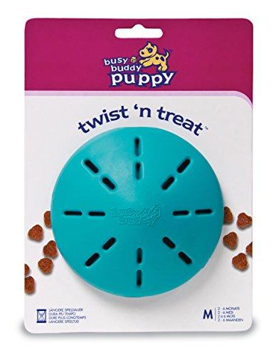 PetSafe Busy Buddy Hundespielzeug Twist 'n Treat M, Snackball mit einstellbarer Futterausgabe, für Welpen